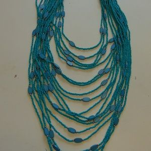 charming charlie's necklace teal silver